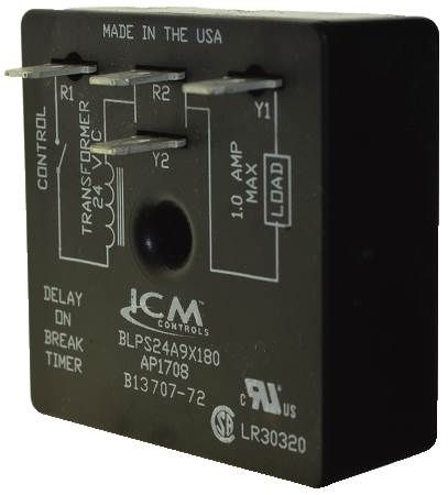 Time Delay Relay 180 SEC Delay (ICMBLPS24A9X180)