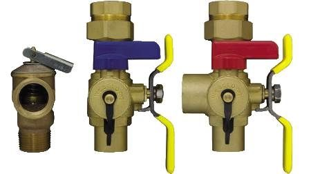 Tankless Water Heater Isolation Valve EXP Series