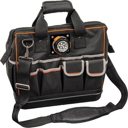 31-Pocket Tradesman Pro LED Lighted Tool Bag