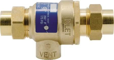 "1/2"" Non-Testable Dual Check Valve with Atmospheric Vent"