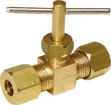 "Low Lead 1/4"" Water Compression Needle Valve"
