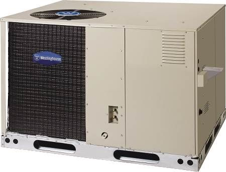 Single Packaged Dual Fuel Heat Pump Westinghouse 15 SEER, 12 EER, Three-Phase, 2 Ton, R410A