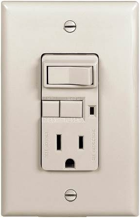 Combination Switch and GFCI Receptacle