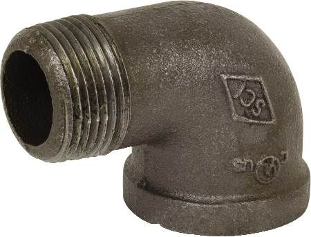 "2-1/2"" Black Iron 90 Degree Street Elbow"
