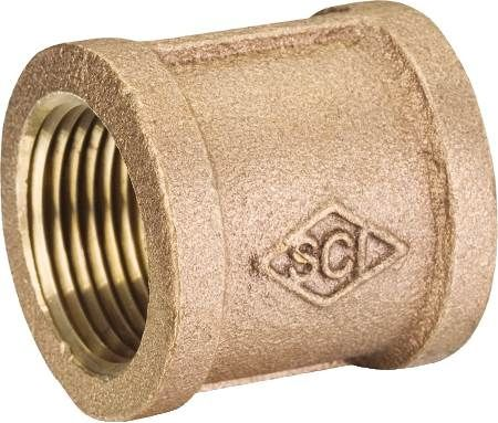 "1"" Brass Coupling Low Lead"