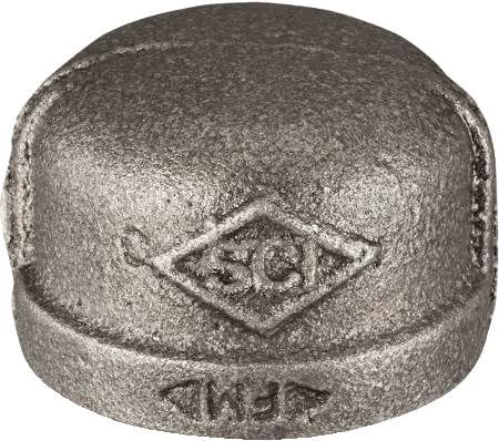 "1/2"" Black Iron Cap"