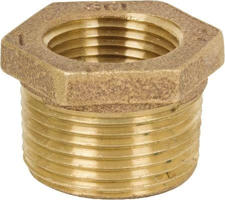 "1/2"" X 1/4"" Brass Bushing Low Lead"
