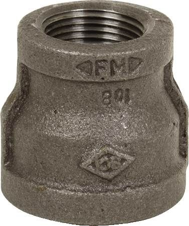 "1/2"" X 3/8"" Black Iron Reducing Coupling"