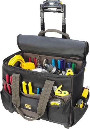 17-Pocket Tech Gear™ Lighted Handle Roller Tool Bag