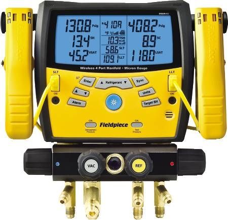 SMAN Wireless Digital Manifold with Vacuum Gauge