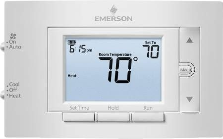 "Emerson 4.5"" Display Conventional Thermostat"