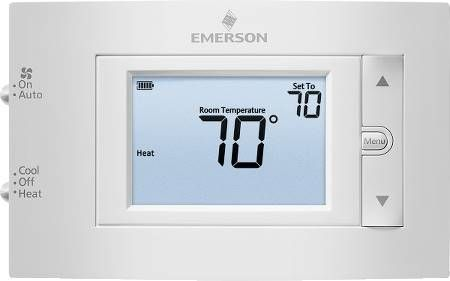 "Emerson 4.5"" Display Conventional Non-Programmable Thermostat"
