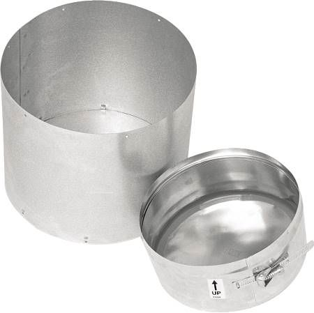 "4"" Double Wall Corrguard Value Stainless Steel Tee Cap Less Drain"