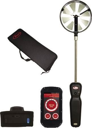 Wireless Vane Thermo-Anemometer Kit