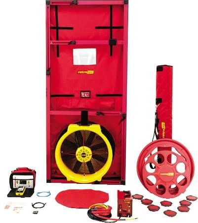 High Powered Blower Door Air Leakage Testing System